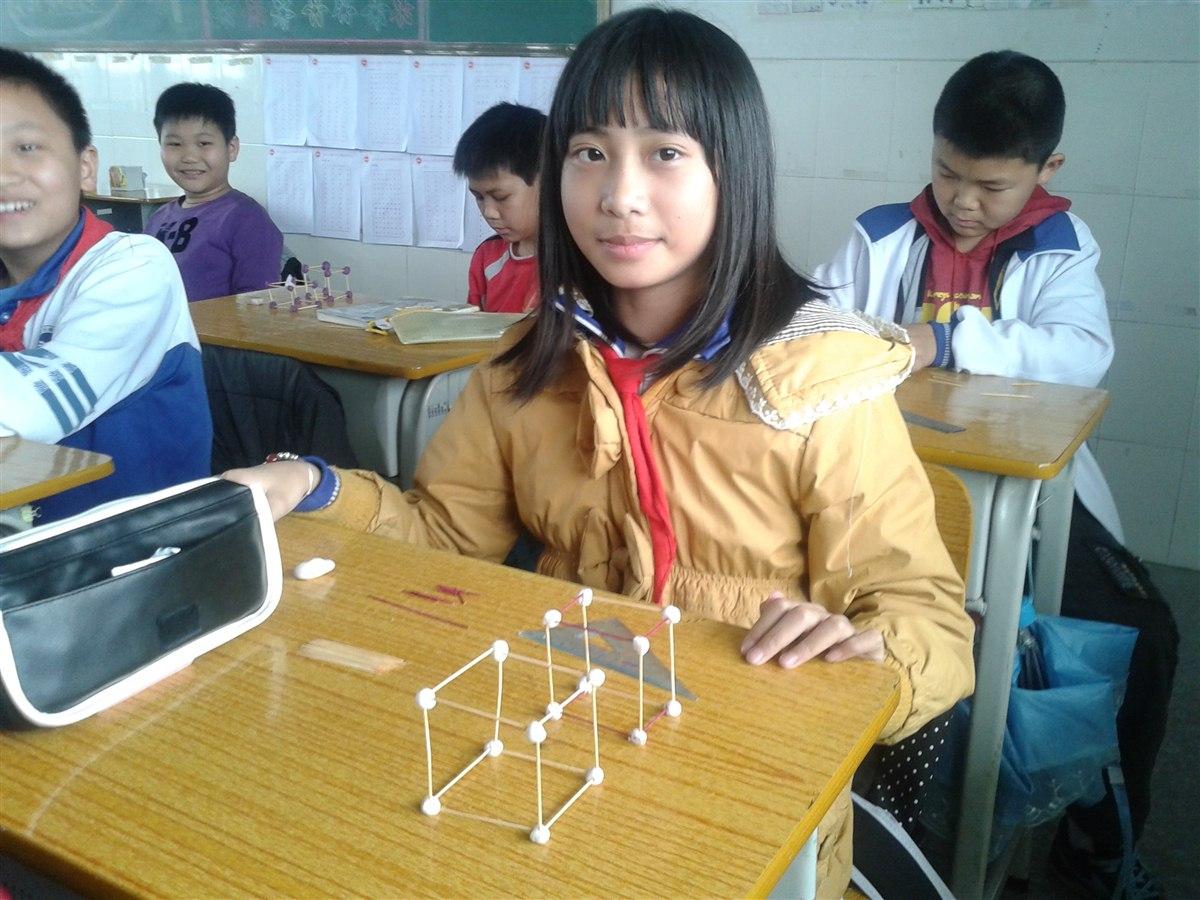 数学科现场制作长方体和正方体框架比赛