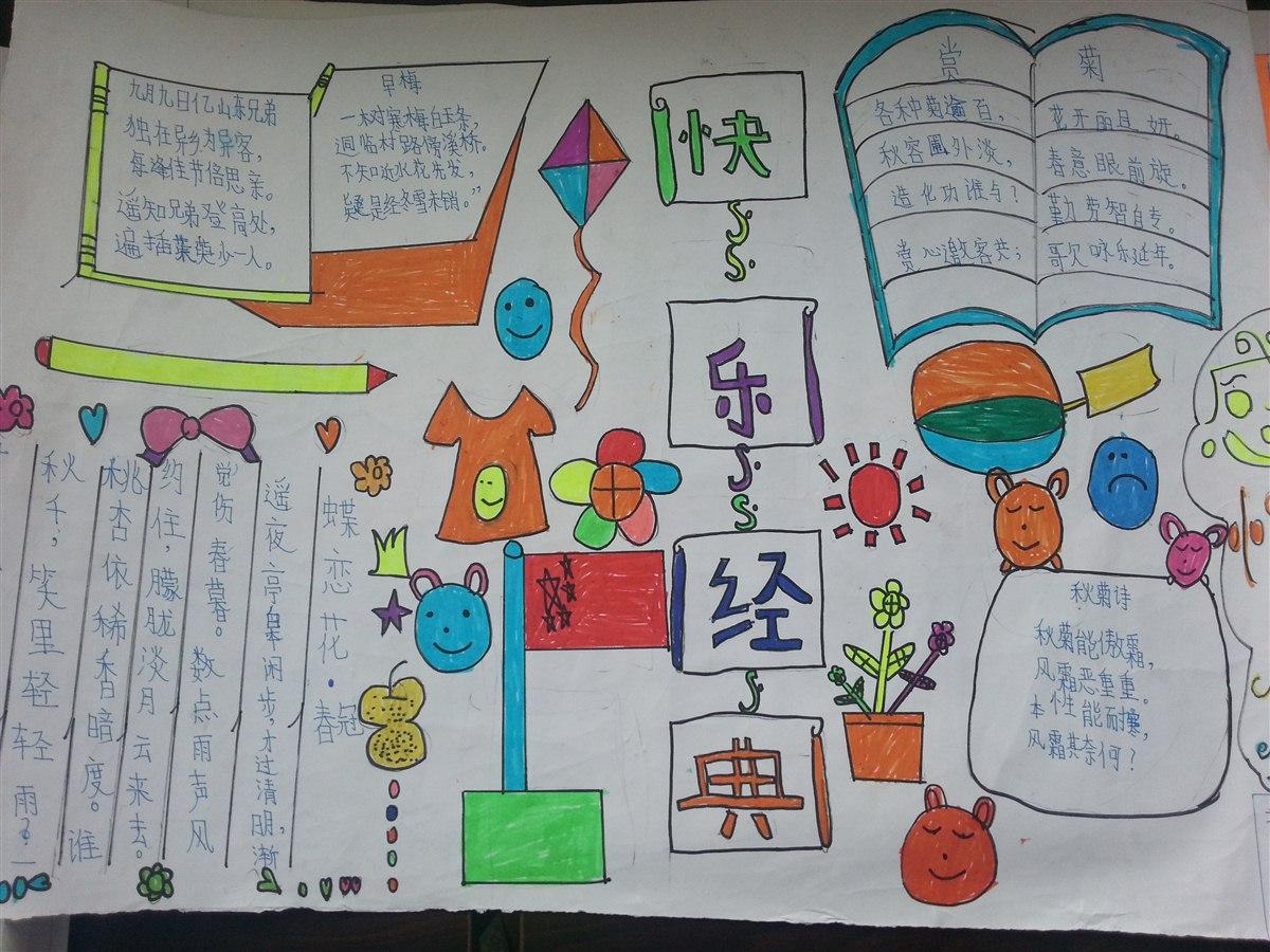 经典朗诵手抄报 企石镇江南小学五(1)班-班级博客