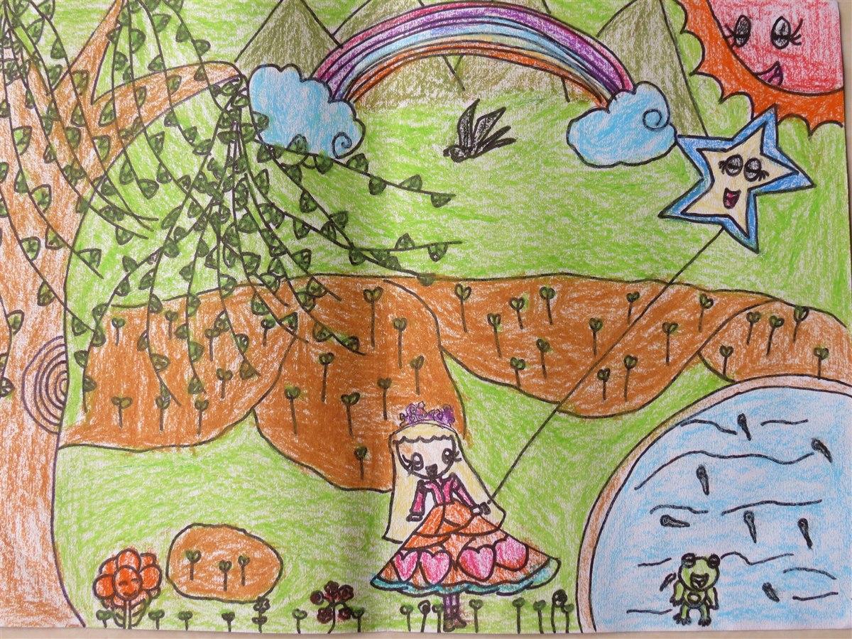 春天来了幼儿绘画作品分享展示