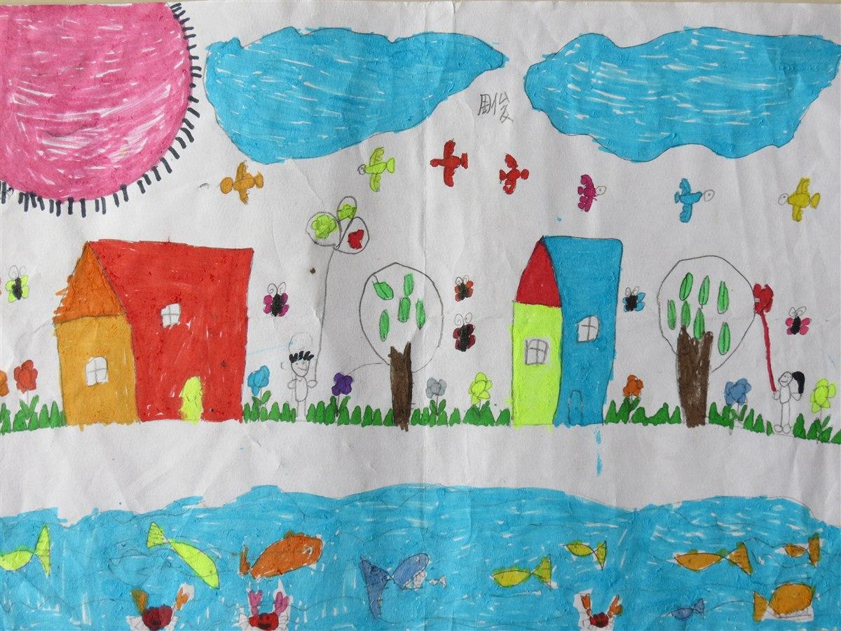 """孩子们的绘画作品""""春天来了"""" 广安希望小学二(12)"""