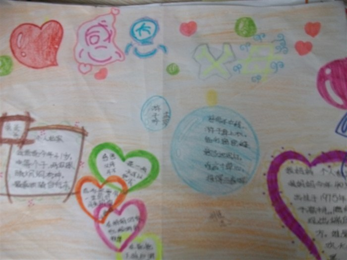 感恩父母手抄报内容(一)感恩的心的生活是美好的,生命犹如一张白纸,有