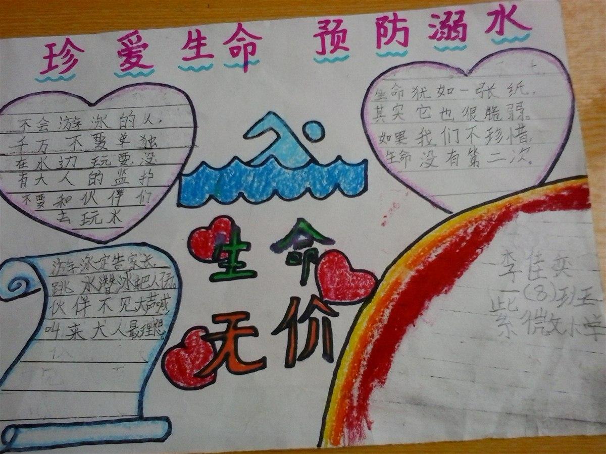 防溺水手抄报 201308班-缙云县紫薇小学
