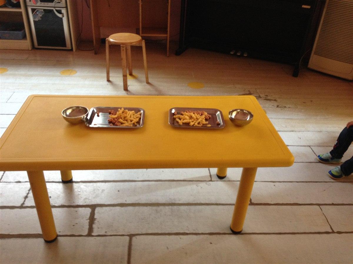 儿童手工制作筷子桌椅