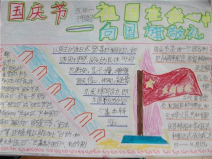 小学五年级手抄报祖国在我心中