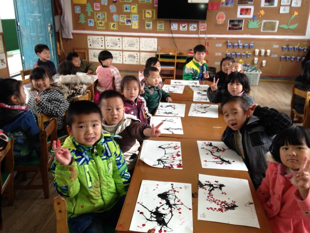 幼儿园中班手指画