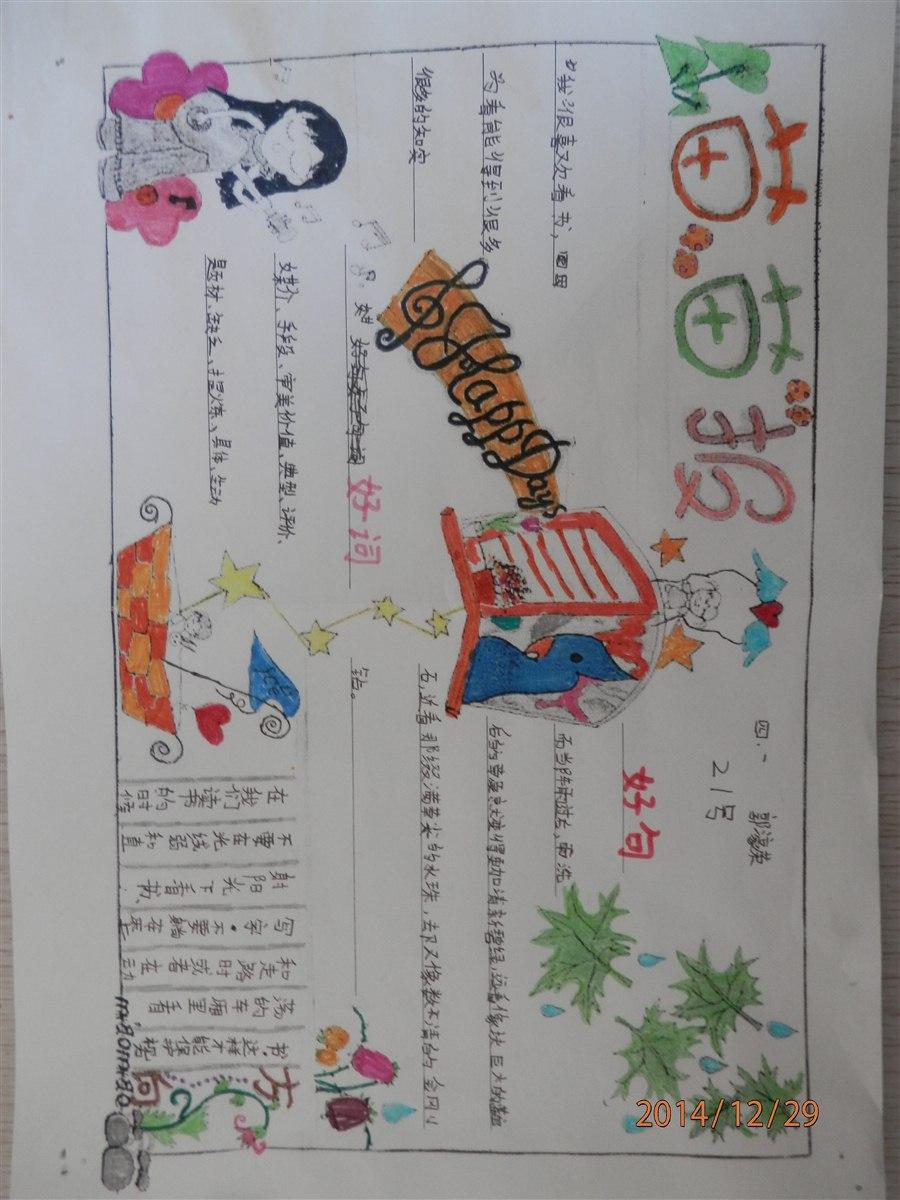 读书手抄报 四年级(1)班(青鸟班)-威海高区神道口小学