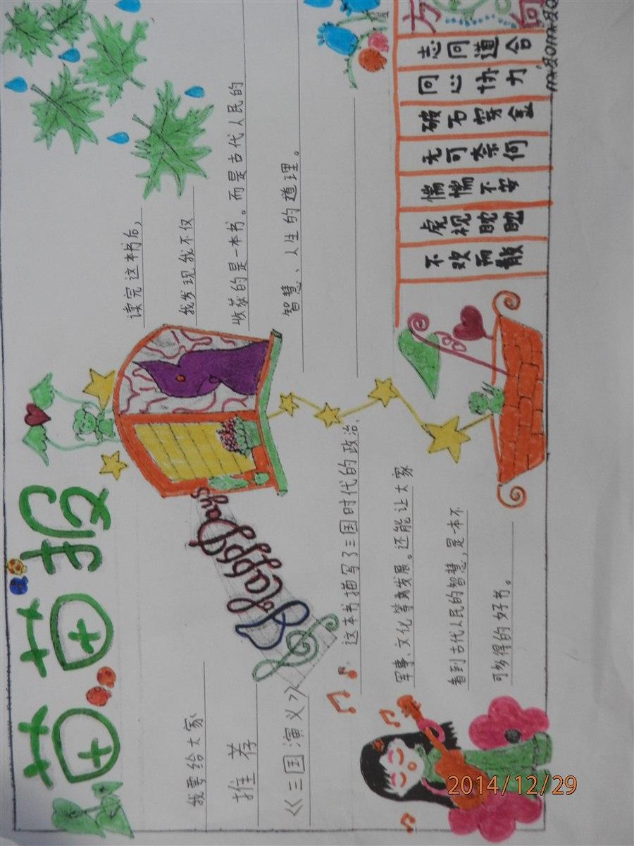 读书手抄报板块设计图展示