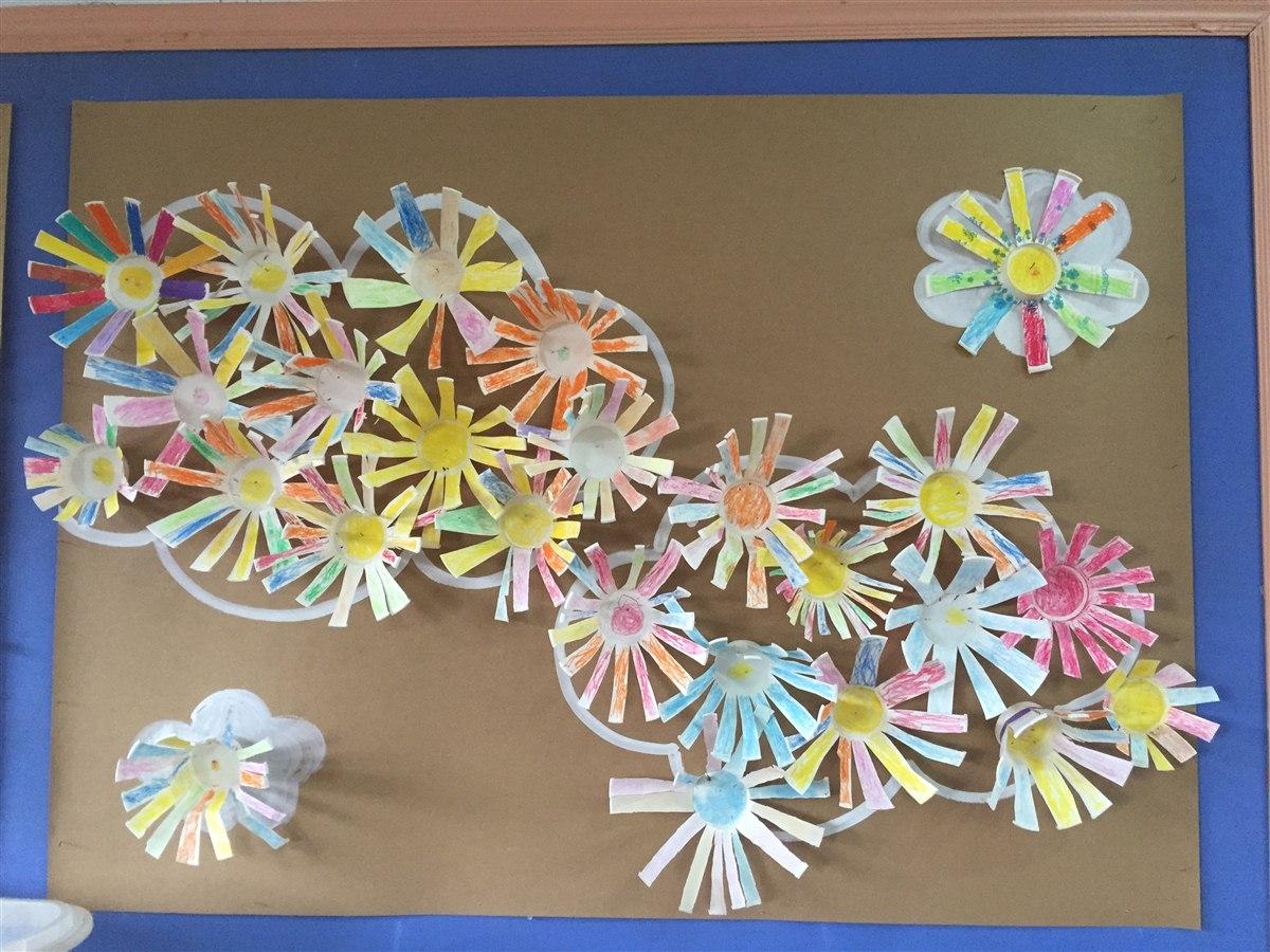 第一周:美术活动《纸杯花》 中三班-张家港市泗港幼儿图片