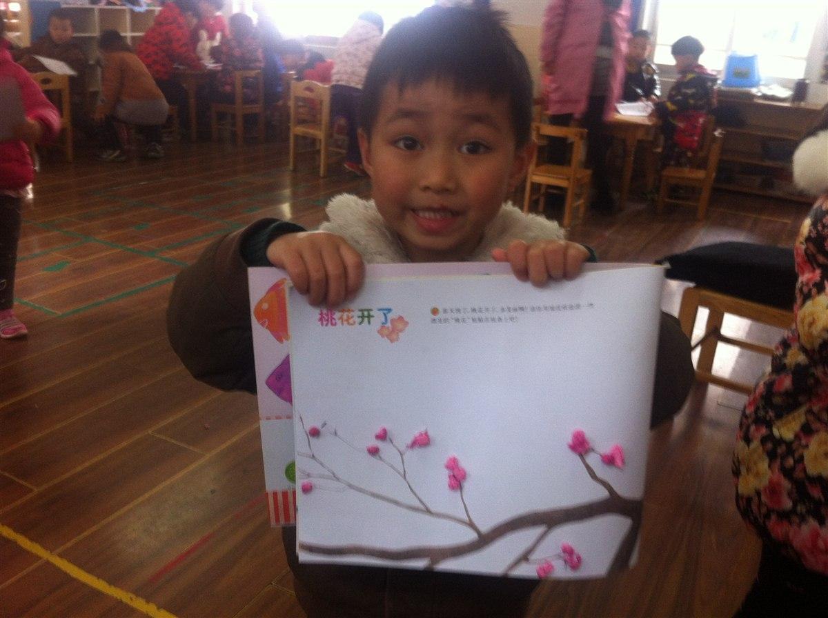 手工:桃花开了 -张家港市泗港幼儿园