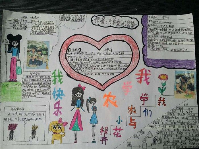 学农手抄报 温州建设小学小南校区一七班-班级博客图片