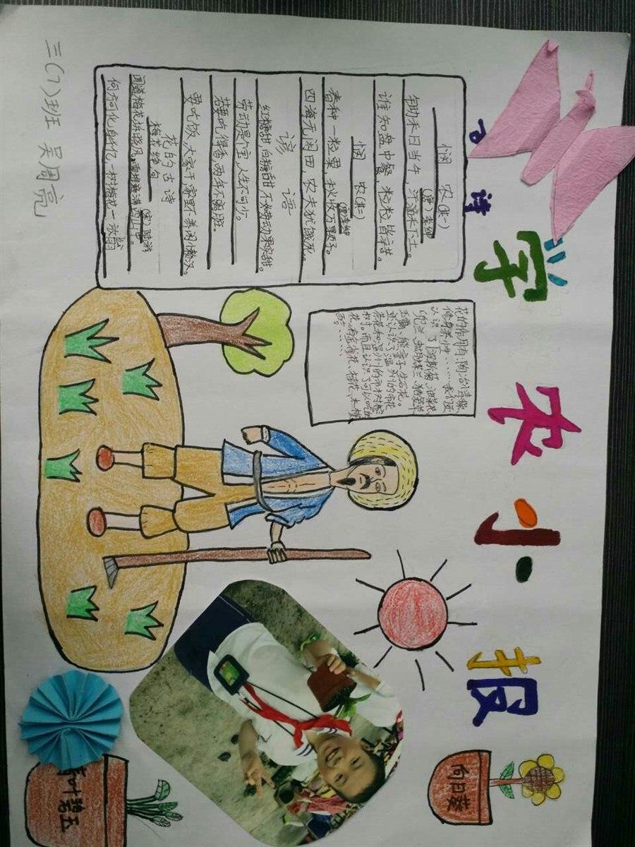 学农手抄报 温州建设小学小南校区一七班-班级博客