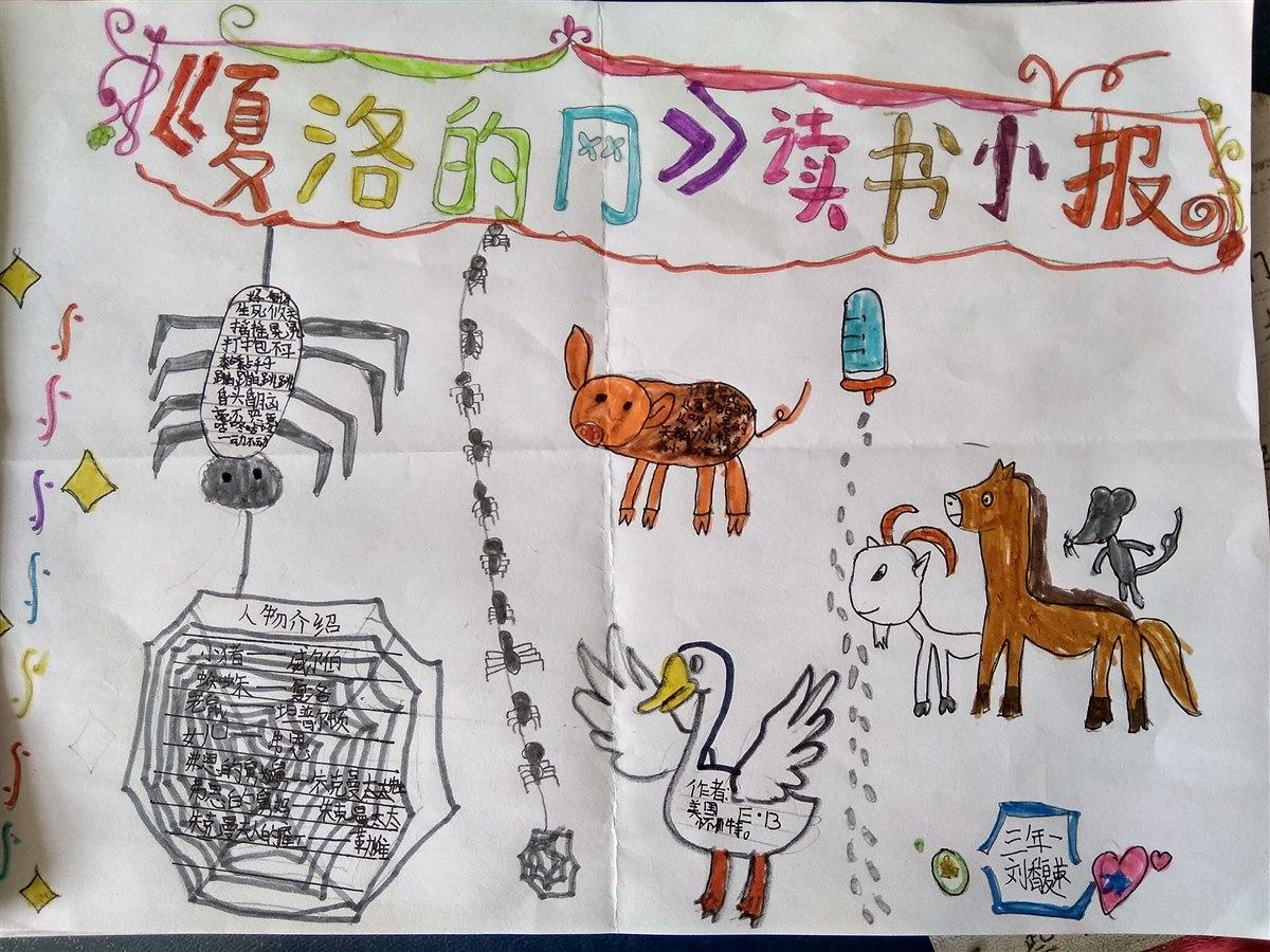 共读《夏洛的网》手抄报展 3年级(1)向阳花班-威海神